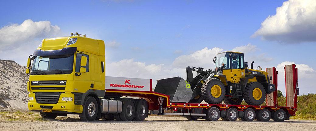 Перевозка негабаритных грузов автомобильным транспортом из-за рубежа